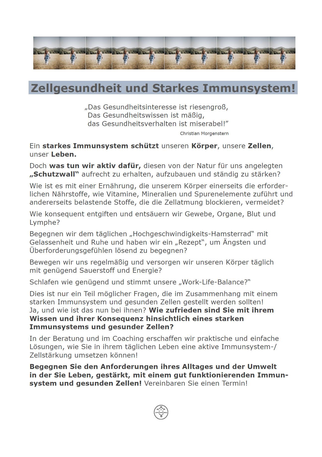 Zellgesundheit und starkes Immunsystem